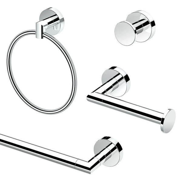 Gatco Glam 4-Piece Bathroom Accessory Kit - Chrome