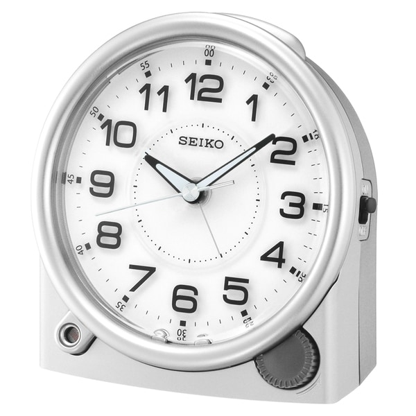 """Seiko 5"""" ULTIMATE ALARM with, ASCENDING ALARM WITH SNOOZE. Opens flyout."""