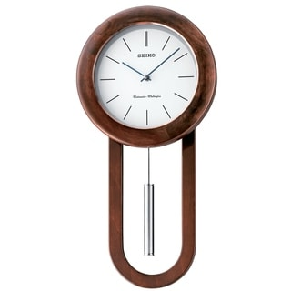 Link to Seiko Circular & Sleek Wall Clock with Pendulum and Dual Chimes Similar Items in Decorative Accessories