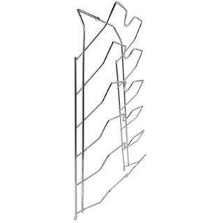 Porch & Den Montreux Silver 6-slot No Scratch Pot Lid Cabinet Storage Rack