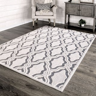 """My Texas House by Orian Indoor/Outdoor Cotton Blossom Natural Gray Area Rug - 7'9"""" x 10'10"""""""