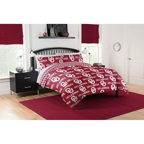 COL 875 Oklahoma Sooners Queen Bed in a Bag Set