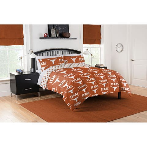 COL 875 Texas Longhorns Queen Bed in a Bag Set