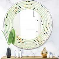 Designart Bright Eucalyptus Floral Pattern Iii Cottage Round Or Oval Wall Mirror Wave On Sale Overstock 29892626