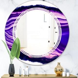 Designart 'Geode 4' Modern Round or Oval Wall Mirror - Triple C