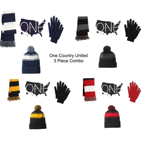 One Country United Women's 3 Piece Set Hat, Scarf & Gloves