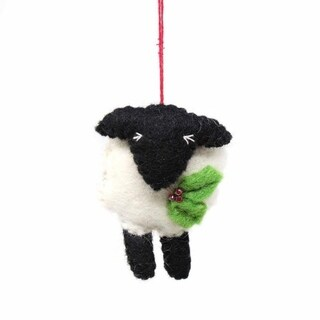 Link to Handmade Felted Wool Christmas Ornament, Sheep- Similar Items in Christmas Decorations