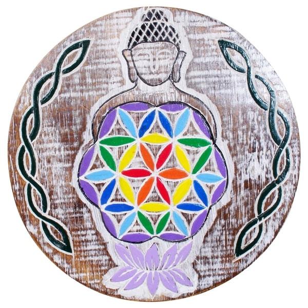Buddha Flower of Life Wall Plaque