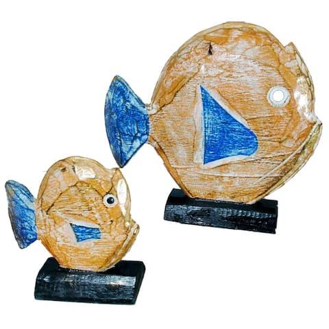 Handmade Albesia Fish Set (Indonesia)