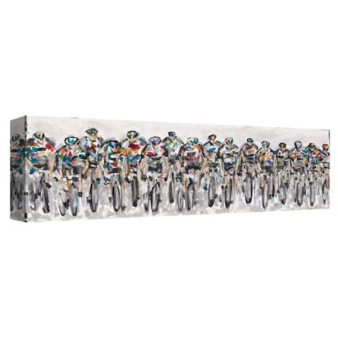 Cyclists 262 by Heather Blanton Canvas Art