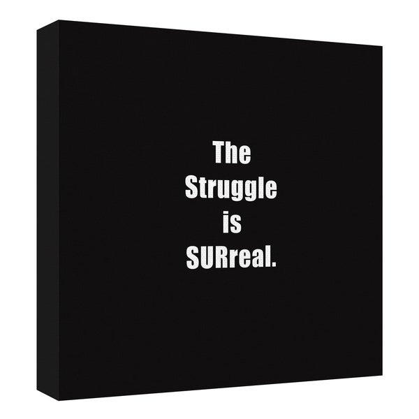 The Struggle by Design Lab Canvas Art