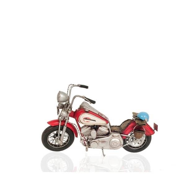 Shop Black Friday Deals On Red Harley Davidson Motorcycle Metal Handmade Overstock 29893547