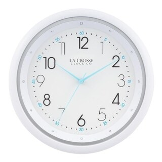 La Crosse Clock 404-4525 10 Inch Night Vision Quartz Wall Clock
