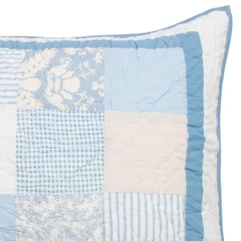 Cottage Home Oceana Cotton Patchwork Standard Sham