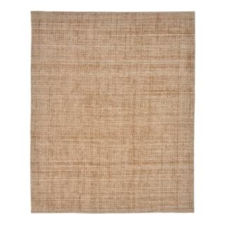 Esme Contemporary Handmade Area Rug, Caramel, 9' x 12' - 9' x 12'