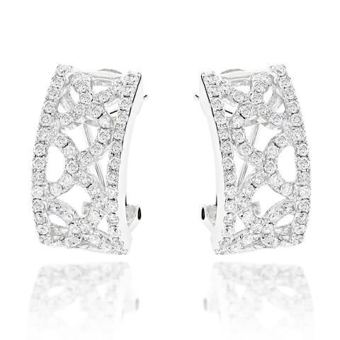 Luxurman 14k White Gold 1 4/5ct TDW Diamond Earrings