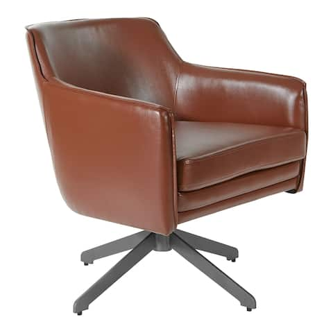 Faux Leather Guest Chair with Swivel