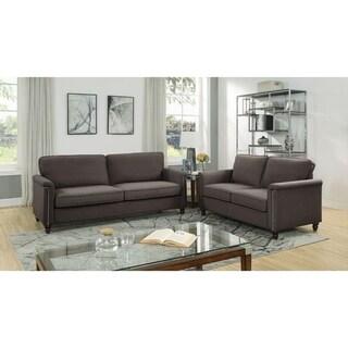 Delia Linen Fabric Sofa and Loveseat