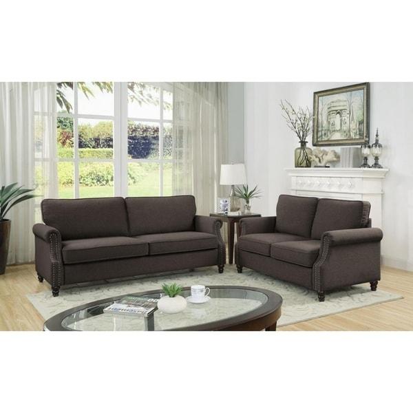 Urbano Linen Fabric Sofa and Loveseat