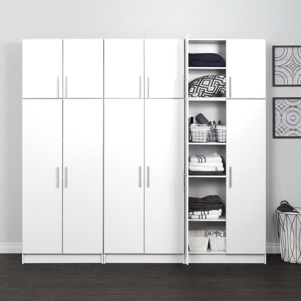 "Prepac Elite Storage Cabinet Set D - 6 pc - 96"" W x 89"" H x 16"" D"