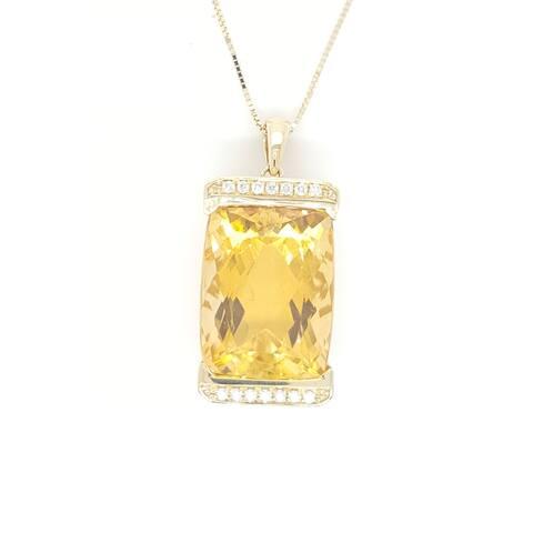 Kabella Citrine and Diamond Necklace