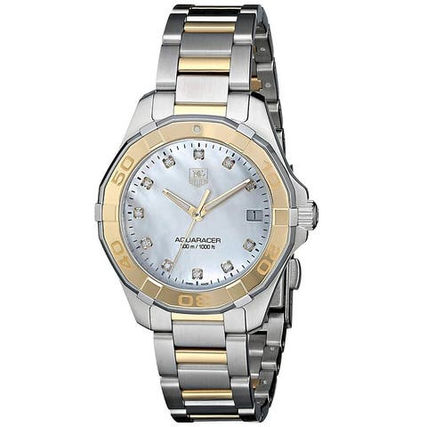 Tag Heuer Women's WAY1351.BD0917 Aquaracer Diamond Two-Tone Stainless Steel Watch