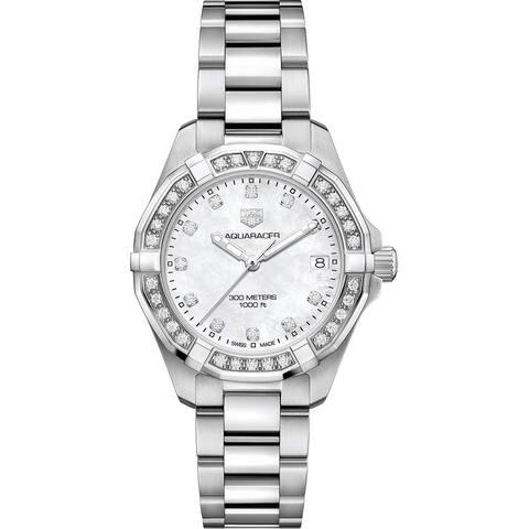 Tag Heuer Women's WBD1315.BA0740 Aquaracer Diamond Stainless Steel Watch