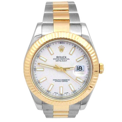 Pre-owned 41mm Rolex Two-tone Datejust II Watch