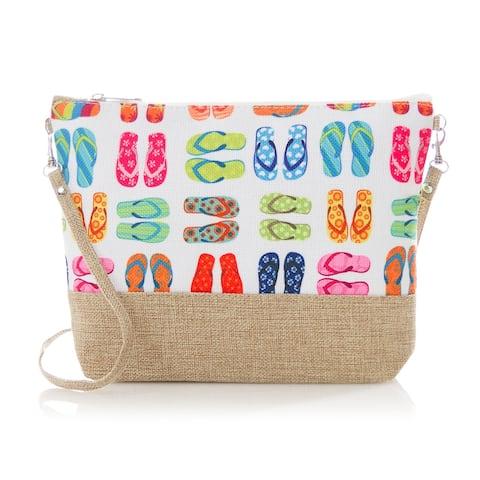 Crossbody Bag, Women's Small Convertible Canvas Beach Crossbody