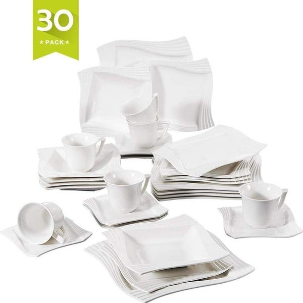 Malacasa 30 Pieces Dinnerware Set Plateug