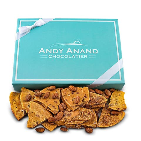 Andy Anand Old Fashioned Handmade Almond Brittle made with Real Honey, Vegan 1lbs