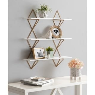 Kate and Laurel  Islay Modern Floating Wall Shelves - 24x5x25.25
