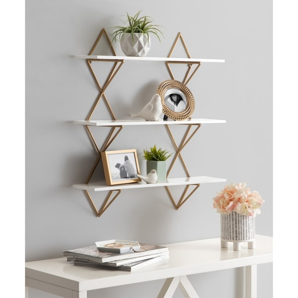 Kate and Laurel Islay Modern Floating Wall Shelves - 24x5x25.25. Opens flyout.