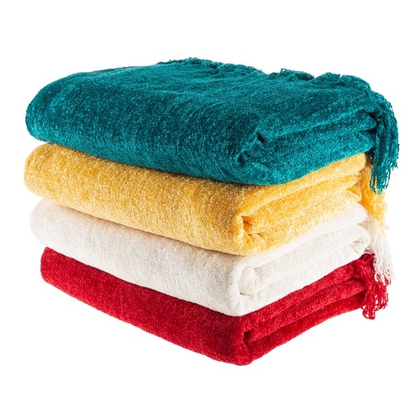 Oversized Chenille Throw Blanket by Windsor Home. Opens flyout.