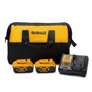 Dewalt 20V MAX Battery Starter Kit with 2 Batteries