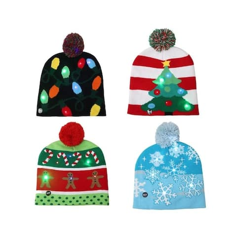Light-Up Holiday Beanies