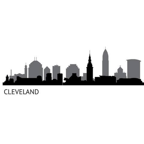Cleveland Cityscape Wall Art Kit
