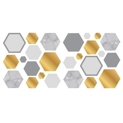 Marble Gold Geo Hexagon Wall Sticker