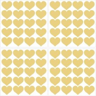 Metallic Gold Hearts Wall Art Kit