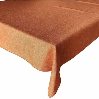 """Faux Burlap Style Polyester Woven Tablecloth 48"""" x 48"""" Orange"""