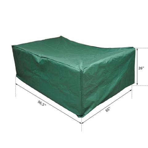 "Outsunny 97"" x 65"" x 26"" Weatherproof Outdoor Sectional Patio Furniture Cover with Ultimate Protection & Good Look Green"
