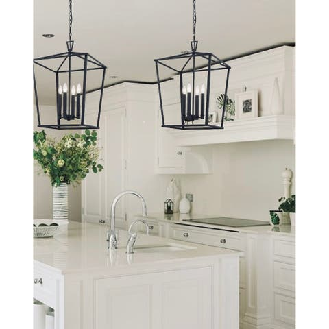 The Gray Barn Katrina Hill Kitchen Island Lantern Rustic Black Finish