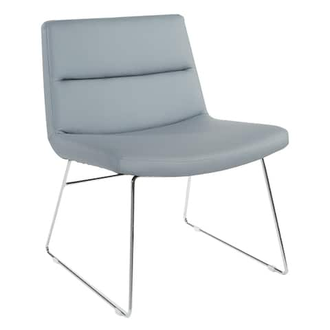 Thompson Upholstered Lounge Chair with Chrome Base