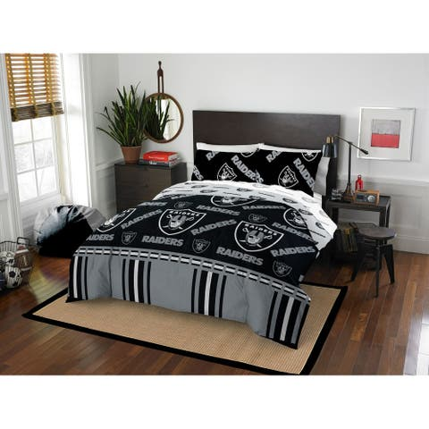 NFL 875 Oakland Raiders Queen Bed In a Bag Set