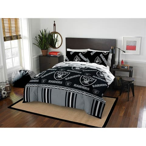 NFL 864 Oakland Raiders Full Bed In a Bag Set