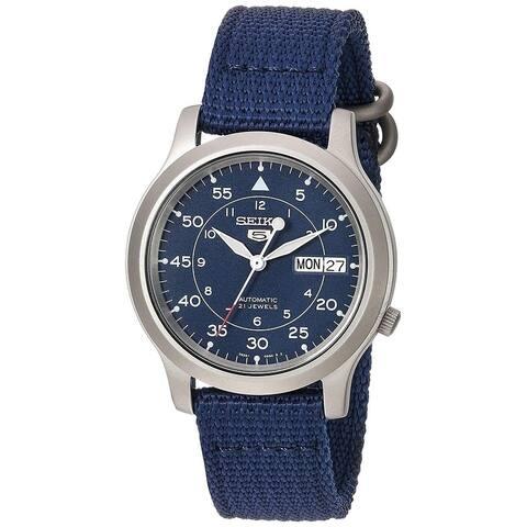 Seiko Men's SNK807 5 Automatic Blue Canvas Watch