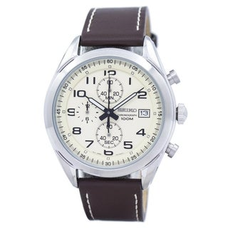 Link to Seiko Men's SSB273 Chronograph Brown Leather Watch Similar Items in Men's Watches