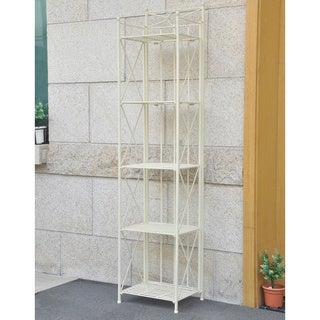 International Caravan St. Lucia 5-tier Iron Folding Bakers Rack
