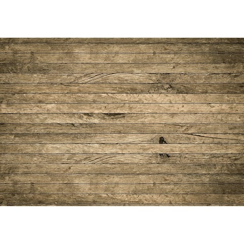 Vintage Aged Wooden Wall Wall Mural