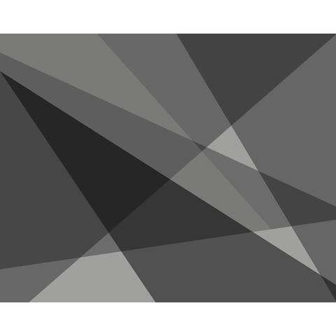 Grey Geometry Wall Mural